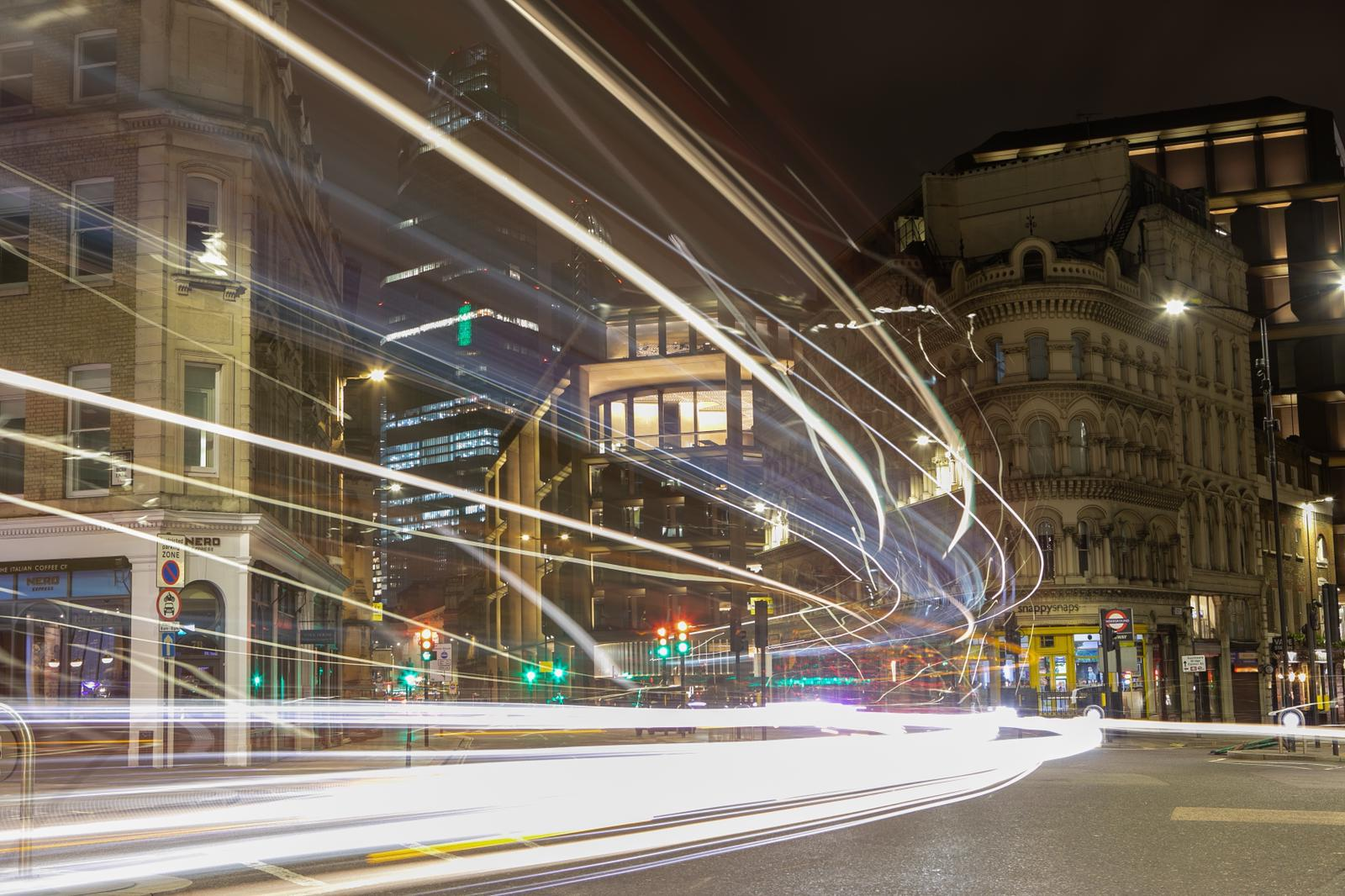 Central London with a long exposure